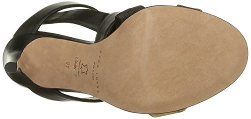 Pura Lopez Ah103 - Sandalias de vestir Mujer Negro / Oro