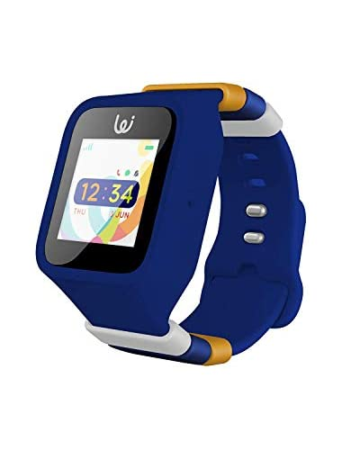 iGPS Wizard Smart Watch for Kids with Three SIM Card Live GPS Tracking Cellular Voice Text Adjustable Water Resistant SOS  Device Removal Alerts LED Touch Screen Display  Dark Blue