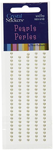 (Mark Richards Elements Pearl Stickers 1951 120-Piece Self-Adhesive Embellishment, 3mm, Natural Pearl)