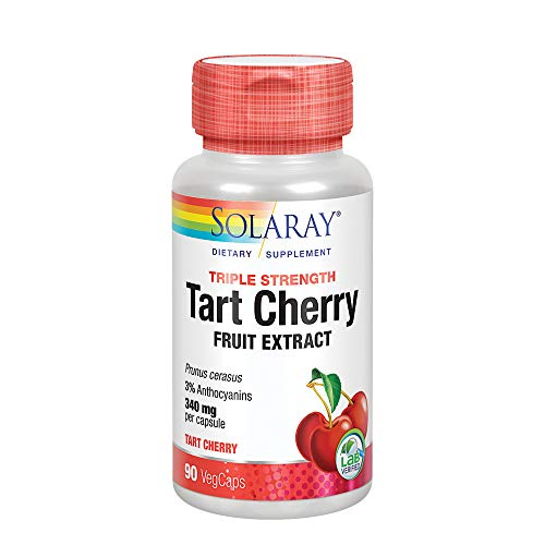 Solaray Triple Strength Tart Cherry Fruit Concentrate VCapsules, 90 Count