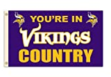 NFL Minnesota Vikings 3-by-5 Foot ''In Country'' Flag