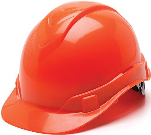 Pyramex Ridgeline Cap Style Hard Hat, 4 Point Ratchet Suspension, Hi Vis Orange by Pyramex Safety