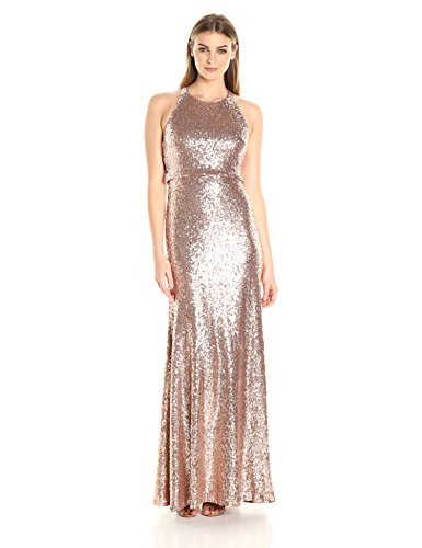 Jenny Yoo Women'S Sloane Sequin Gown, Rose Gold, 8 Review