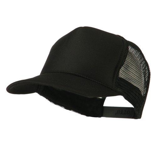 Foam Front Golf Style Mesh Back Cap - Black OSFM