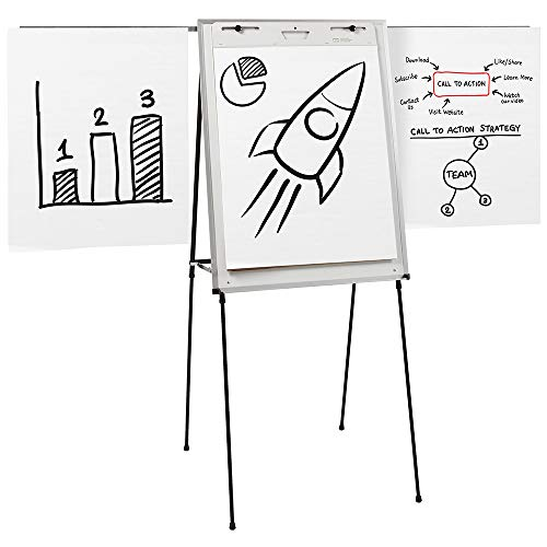 Quartet Easel, Dry-Erase, Steel, Dual-Purpose Writing Board/Flipchart, Total Erase, 29