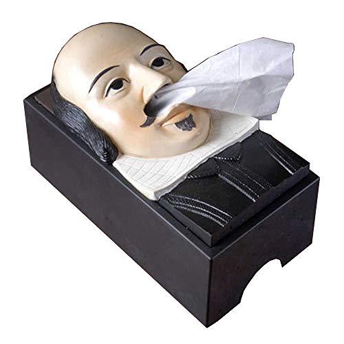 (Rudy TIKIHEAD Tissue Paper Holder Box Dispenser Cover Tiki Easter Island Moai Face Nose Orangutan Shakespeare)