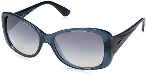 VOGUE Women's Nylon Woman Non-Polarized Iridium Square Sunglasses, Opal Light Blue, 56 - Sunglasses Brand Vogue