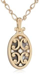 "Monica Rich Kosann ""Gate Lockets"" Oval Diamond Gate Necklace"