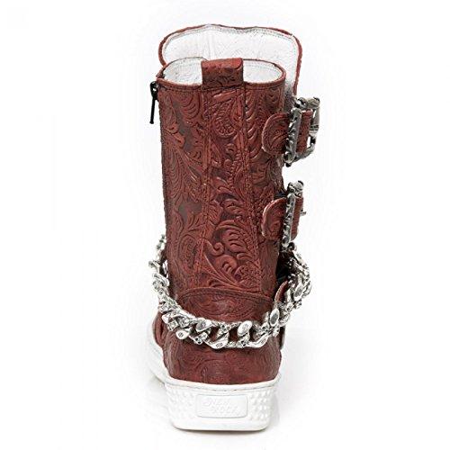 Nuovi Stivali Di Roccia M.ps048-s8 Gotico Hardrock Punk Herren Stiefel Rot