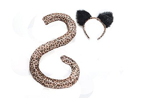 Adult Costume Animal Tail & Ears Set - Leopard