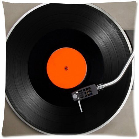 Funny Vinyl Record Turntable Zippered Pillow Protector 18X18
