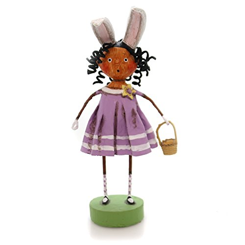 Lori Mitchell CURLEY SHIRLEY Polyresin African American Black Easter 11074