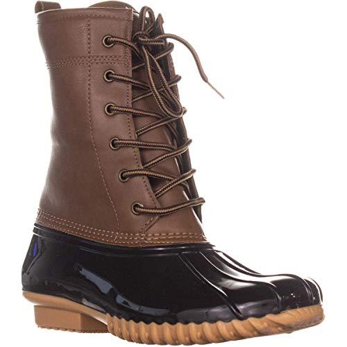 sporto Womens Arel Laceup Mid Calf Rain Boots Brown 6.5 Medium (B,M)