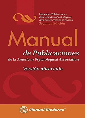 amazon com manual de publicaciones de la american psychological rh amazon com APA Style MLA Manual