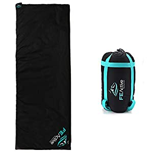 FE Active – Sleeping Bag Extremely Lightweight Water Resistant 3 Seasons Compact Sleeping Bag for Outdoors, Camping, Backpacking, Hiking, Trekking | Designed in California, USA