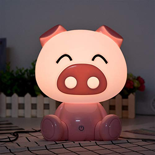 Night Lights for Kids - Baby Night Light, Lamps for Night Table Pink Pig Warm White with LED Touch Controls and 3 Kinds of Brightness Adjustment Baby Girl Boys Gifts (Large Size)