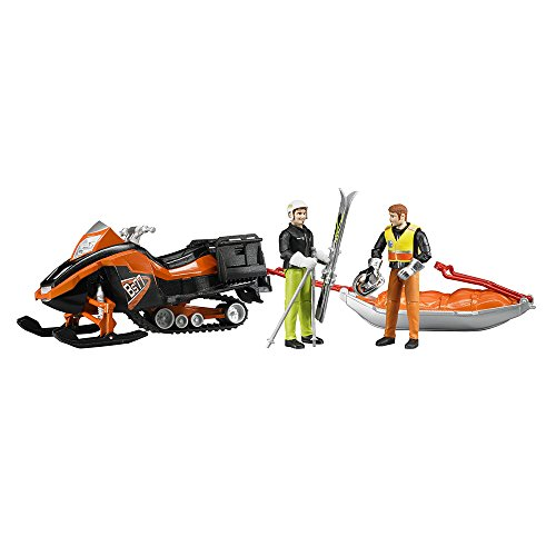 Bruder Snowmobile with Driver & Rescue Sled