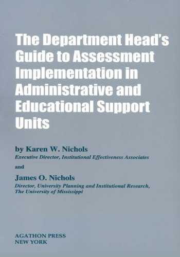 The Department Head's Guide to Assessment Implementation in Administrative and Educational Support Units