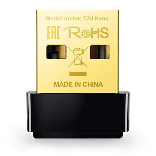 TP-Link Archer T2U Nano AC600 Wireless USB Adapter, Black