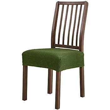 amazoncom subrtex dining room chair seat slipcovers sets removable washable elastic cushion