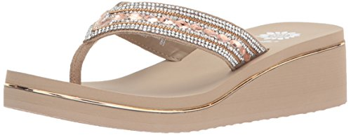 Yellow Box Women's Marcy Sandal, Taupe, 6 Medium US