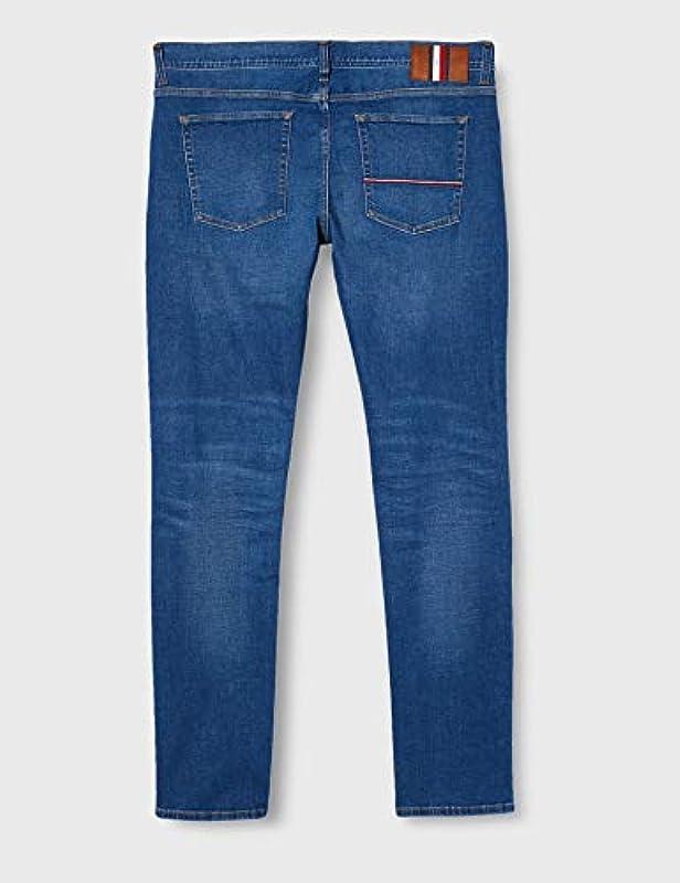 Tommy Hilfiger XTR Slim Layton Pstr Pelion Blue Straight Jeans męski: Odzież