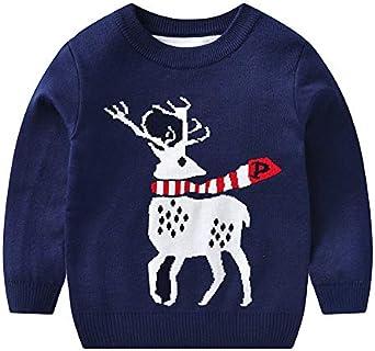K-Youth Sudadera de Punto Niño Invierno Navidad Reno Suéter Niña Ropa Bebe Niño Jersey para Niñas Ropa Bebe Niña Recien Nacido Camiseta Manga Larga Infantil Otoño Abrigos Niños: Amazon.es: Ropa y accesorios