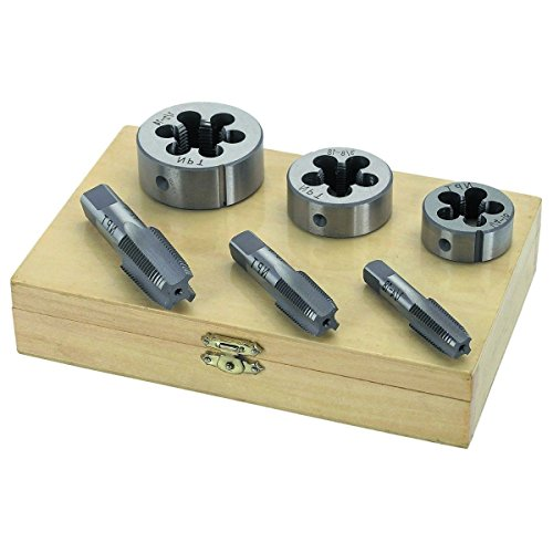 "1/4"" 3/8"" 1/2"" INCH STEEL TAP & AND DIE TOOL THREADER THREAD KIT FOR PIPE 6 PCS,Jikkolumlukka from Jikkolumlukka"