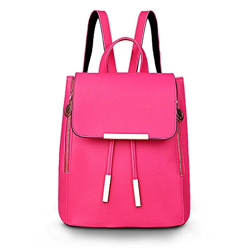 Shoulders Trend Fashion oz Rosered PU Wind College Ounces Backpack Saucy 32 Mature 42 Leather Ms Leisure IqwzXU