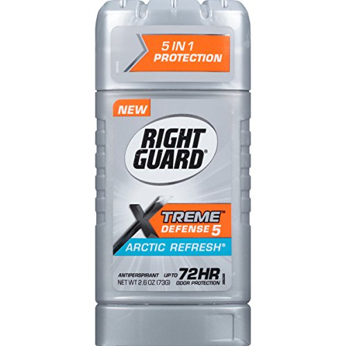 Right Guard Xtreme Defense 5 Antiperspirant Deodorant Stick  Arctic Refresh  2 6 Ounce  Pack Of 6