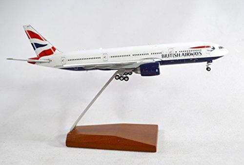 GeminiJets British Airways Boeing 777-200ER Diecast Airplane Model G-YMMR With Stand 1:400 Scale Part# GJBAW1416