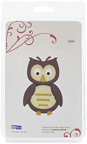 QUICKUTZ We R Memory Keepers 4-Inch by 4-Inch Die, Owl