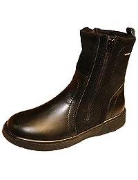 Women's Double Zip Boots Wool Lining Waterproof Leather