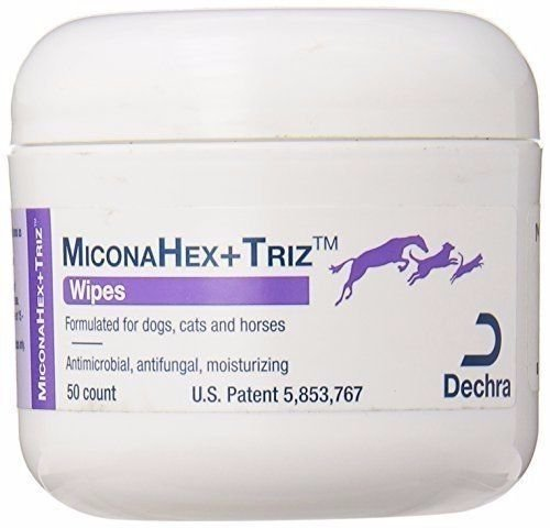 Dechra Miconahex +Triz Pet Wipes Anti-bacterial and anti-fungal properties 50ct by Dechra (Image #1)