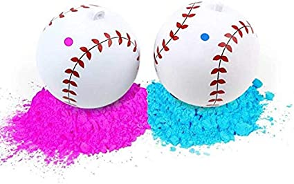 1 Pink and 1 Blue powder 1 Gender Reveal Baseball Kit
