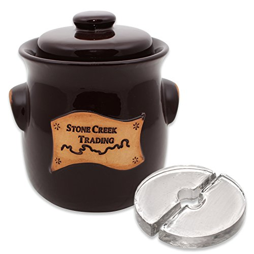 Stone Creek Trading 2.5L Fermenting Crock with Weights (Stone Creek Trading) ()