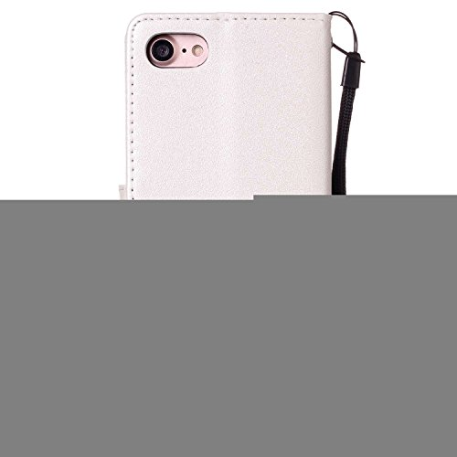[Flip Case Cover] para iPhone 7 Carcasa Sunroyal® iPhone 7 4.7Funda Ultra Slim PU Leather Cuero Cobertura Bookstyle Wallet Cubierta Con [Función de Soporte] [Cierre Magnético] [Billetera con Tapa par A-02