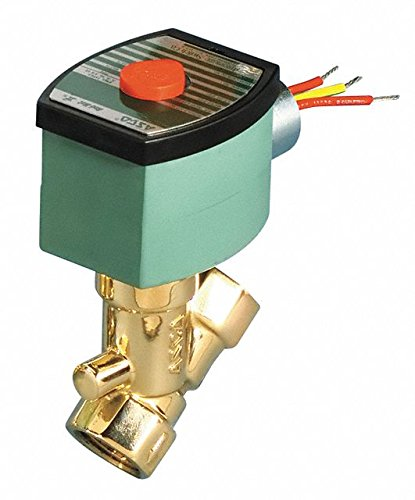 120VAC Brass Solenoid Valve, Normally Closed, 1/2'' Pipe Size by REDHAT (Image #1)