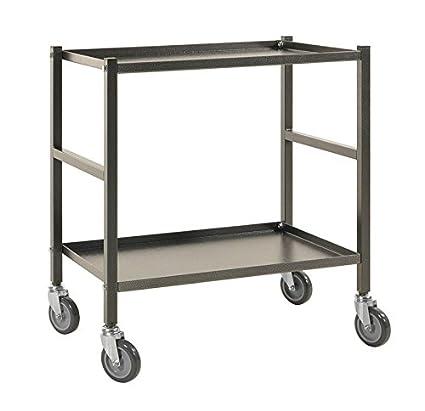 Transporte Piso carro carro carrito | mesa carro con 2 estantes, apta para cajas con