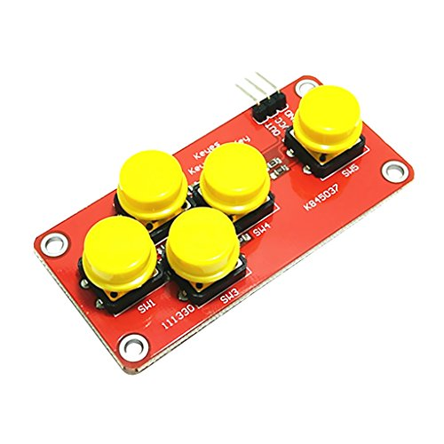 Arduino ADのキーボードの電子ブロックのためのアナログボタンは5つの主モジュールを模倣します