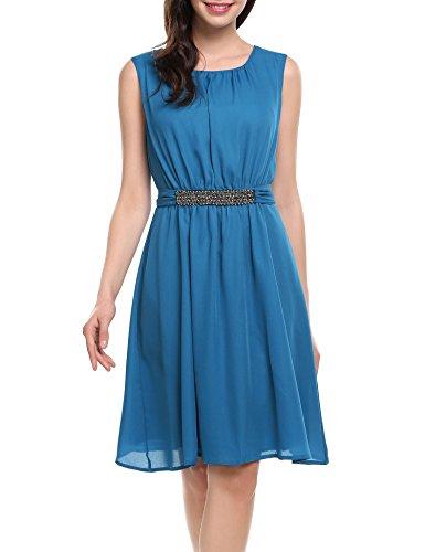 かける野心増強するBeyove DRESS レディース US サイズ: XL カラー: ブルー