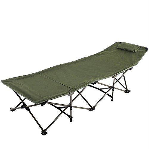 REDCAMP Folding Camping Cot for Adults, Portable Wide Camp Cots Bed for Sleeping, Lightweight for Outdoor Office Use, Green XL