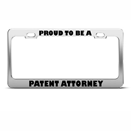 PROUD TO BE A LAWYER License Plate Frame Tag Holder