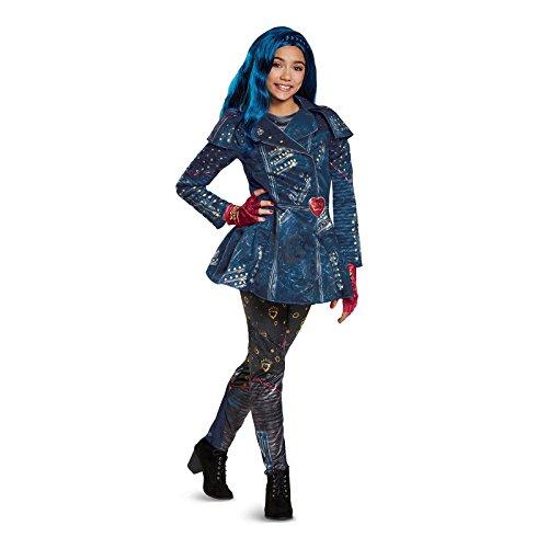 Evie Costume Descendant (Disney Evie Deluxe Descendants 2 Costume, Blue, Medium)