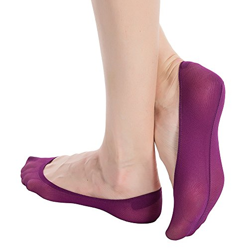 e09445c2f6c Stocking Fox Women s 12-Pack Non-Slip No-Show Liner Sock One Size Purple -  Buy Online in Oman.