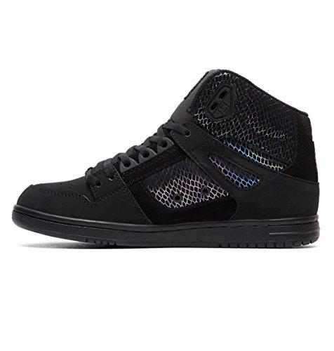 black Black Femme silver Shoes Adjs100116 Chaussures Pour Se Montantes Dc Pure Noir 6RZPp