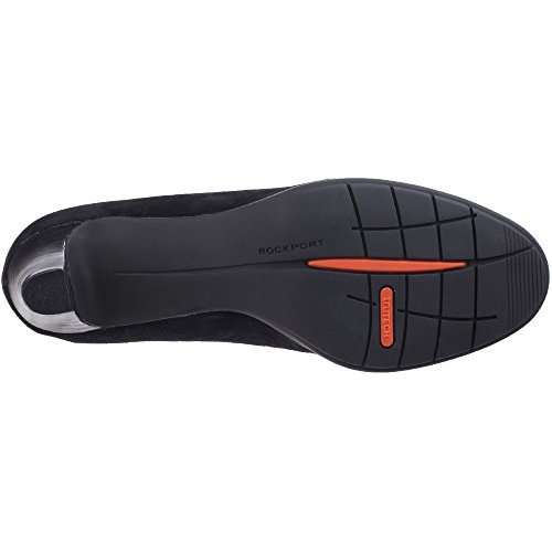 Rockport Womens/Ladies Melora Plain Pump Heeled Suede Court Shoes Black Suede PTdOLAmU