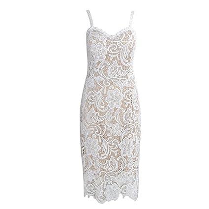 87474d0e5f GAOLIM V-Collar Hollow Flower V Neck Tube Top Sleeveless Sleeve Dress