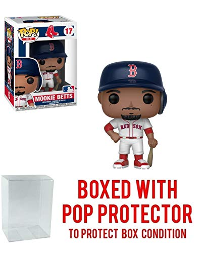 Funko POP! Sports MLB Boston Red Sox Mookie Betts Action Figure (Bundled Pop Box Protector to Protect Display Box)