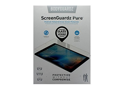 Bodyguardz - Pure Glass Screen Protector, Ultra-thin Tempered Glass Screen Protection (Apple Products) - iPad Pro 12.9 inch display